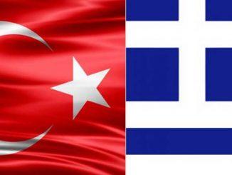Turkin ja Kreikan liput