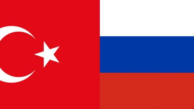 Turkin ja Venäjän liput
